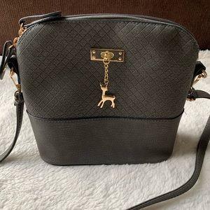 Handbags - Bambi charm- Grey crossbody bag